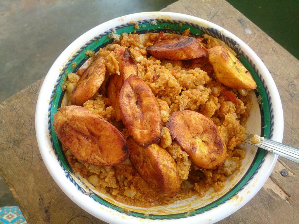 プランテーンはガーナ料理でよく出てくる食材