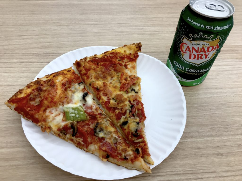 Pizza and Canadian Dry