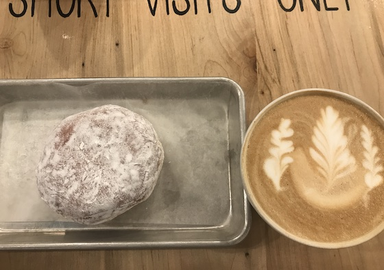 Donut and Cappuccino