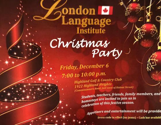 LLI Christmas Party Poster