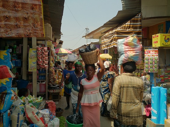 Kumasi Market Inside