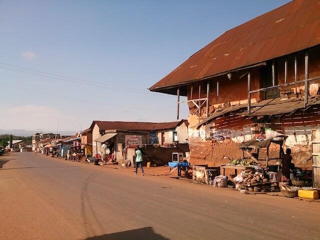 ガーナでホームステイした街
