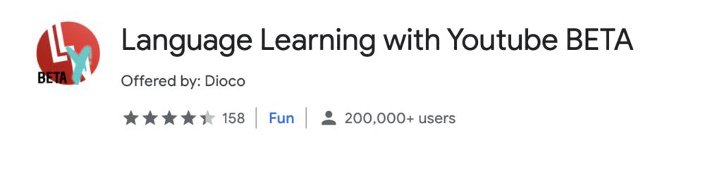 Language Learning with YouTube