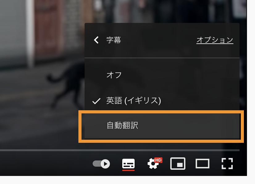 自動翻訳設定