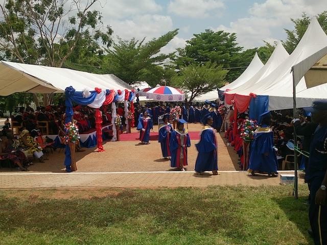 ガーナの大学の卒業式